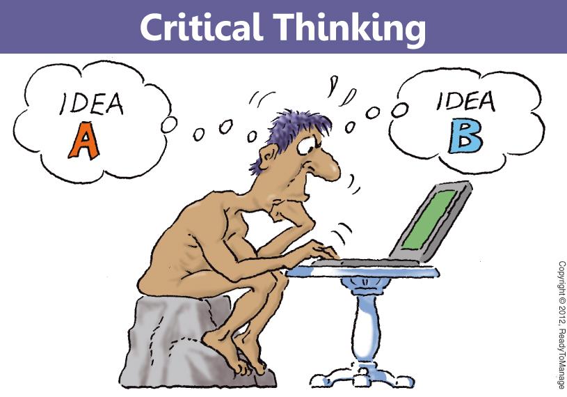 Critical Thinking Cartoon - ReadyToManage