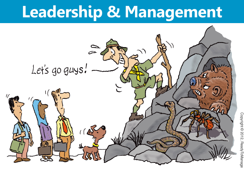 Leadership and Management Cartoon