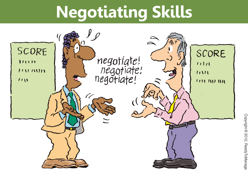 Negotiating Skills Cartoon