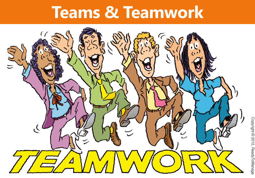 Teams and Teamwork Cartoon