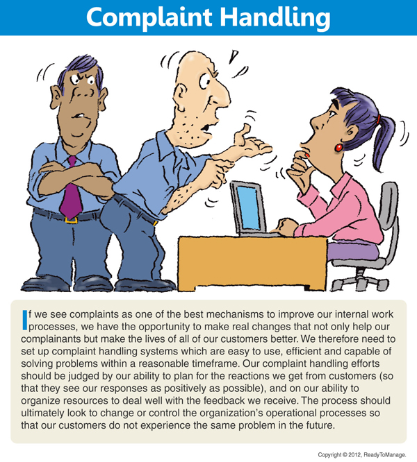 Handling Complaints Cartoon
