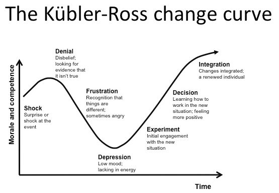 change curve diagram coping with change | readytomanage chemical change process diagram