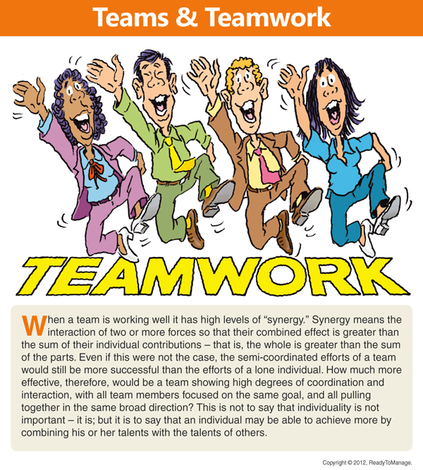 Teamwork Cartoon