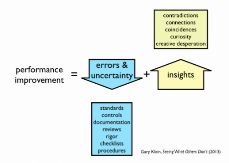 Gary Klein Performance Improvement Diagram